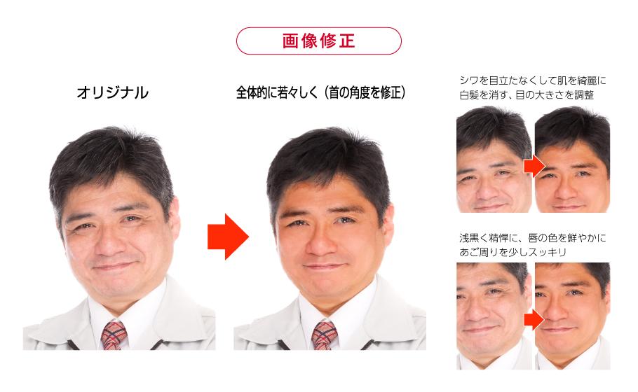 画像修正の比較イメージ