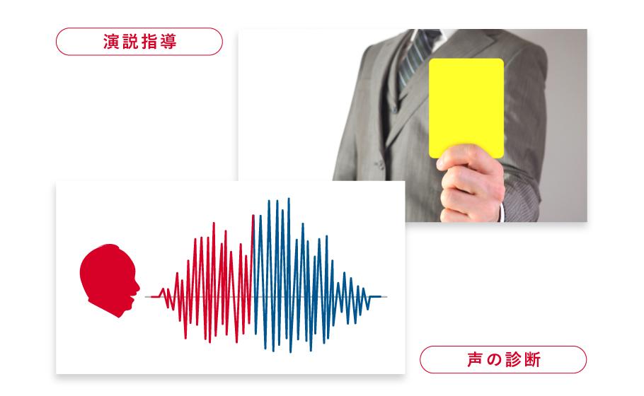 演説指導や声診断のイメージ
